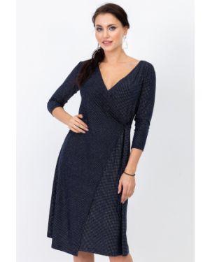 Вечернее платье миди - синее Taiga