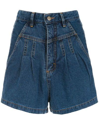 Джинсовые шорты с карманами со стразами на пуговицах Framed