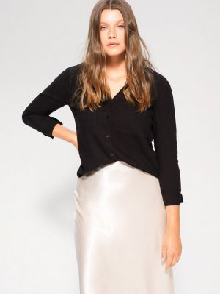 Рубашка с длинным рукавом фиолетовый черная Violeta By Mango