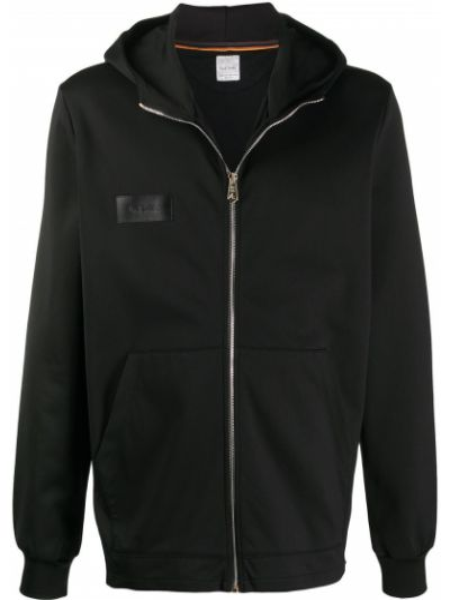 Черная спортивная куртка с нашивками на молнии Paul Smith