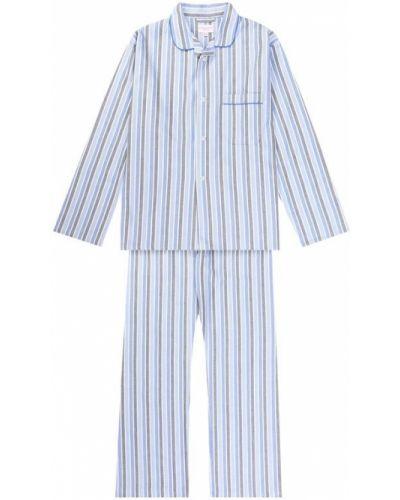 Пижама в полоску фланелевая Derek Rose