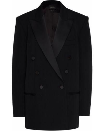 Пиджак черный шерстяной Isabel Marant