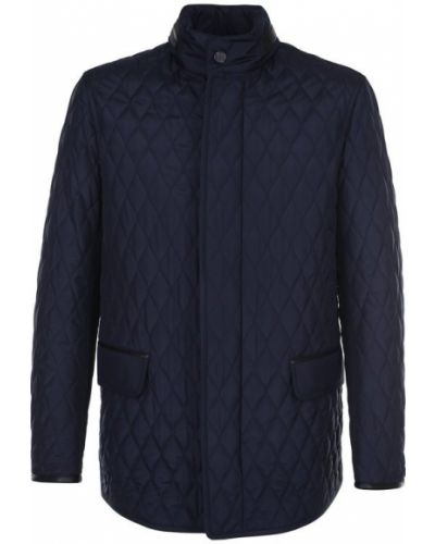 Стеганая куртка на пуговицах с воротником-стойкой Brioni
