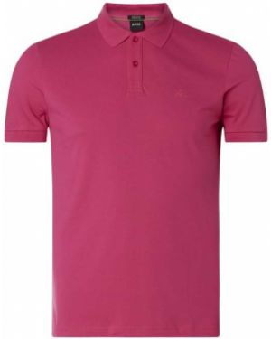 T-shirt bawełniana - różowa Boss Athleisurewear
