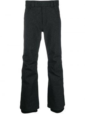 Прямые черные брюки с накладными карманами Rossignol