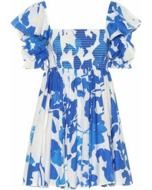 Летнее платье мини с цветочным принтом Caroline Constas