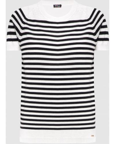 Шелковая футболка - белая Kiton