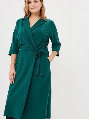 Повседневное платье осеннее зеленый Артесса