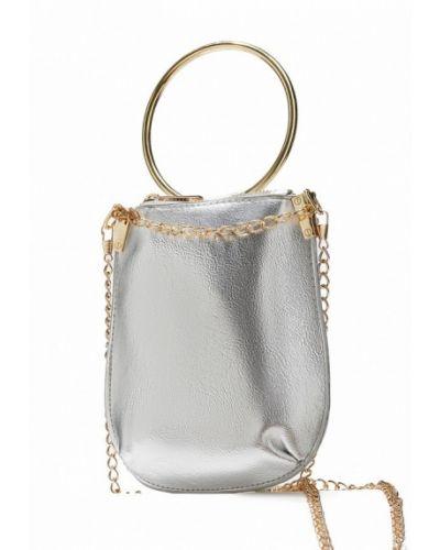 Кожаная сумка серебряного цвета Nothing But Love