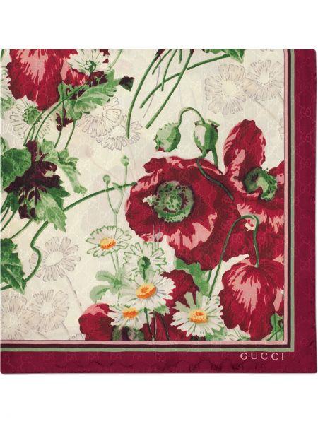 Платок с цветочным принтом Gucci