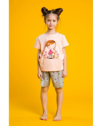 Пижамная оранжевая домашняя пижама Minaku