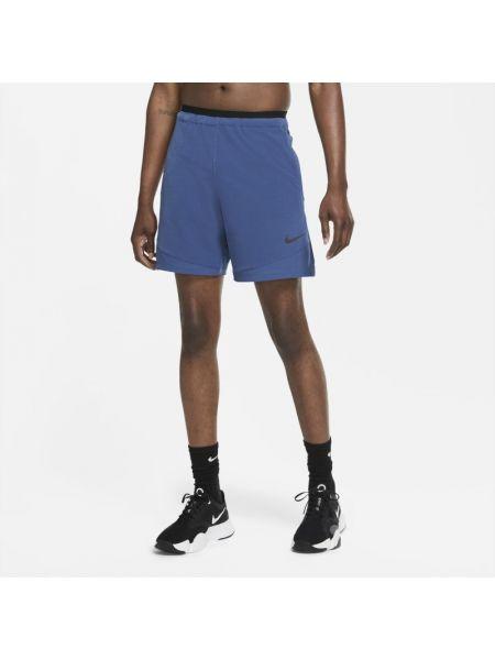 Włókienniczy niebieski szorty na gumce bezpłatne cięcie Nike