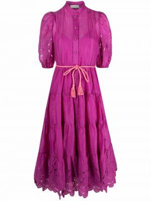 Платье рубашка - розовое Zimmermann