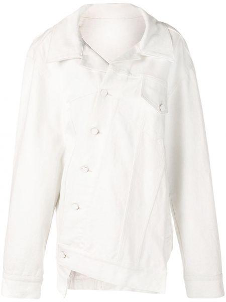 Белая свободная джинсовая куртка с воротником на пуговицах Monse