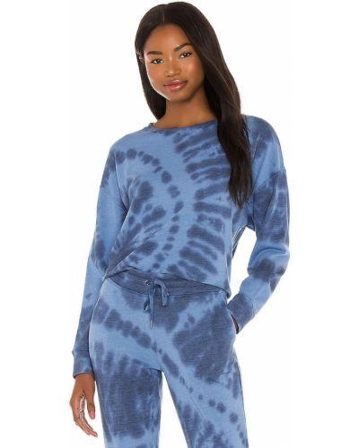 Niebieski klasyczny pulower bawełniany Splendid