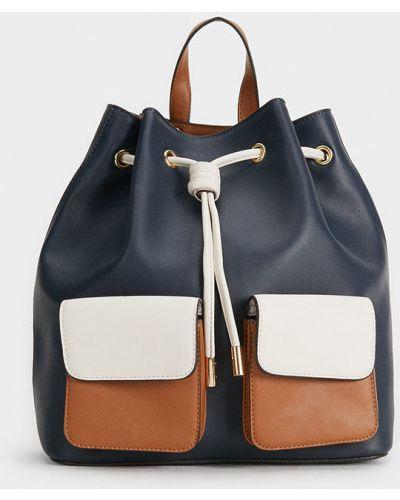 Кожаный рюкзак с отделениями универсальный Parfois