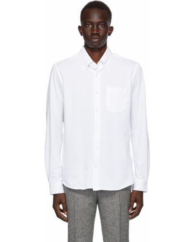 Biała koszula bawełniana z długimi rękawami Harmony