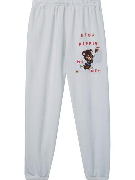 Синие с завышенной талией спортивные брюки с карманами Marc Jacobs
