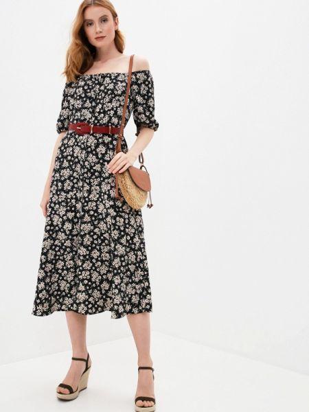 Платье черное весеннее Wallis