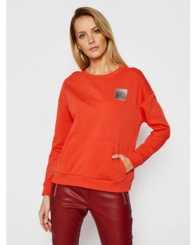 Bluza - pomarańczowa Armani Exchange