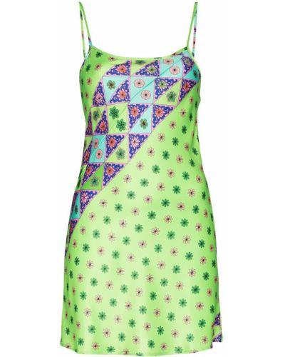 Платье мини с вырезом - зеленое Frankies Bikinis