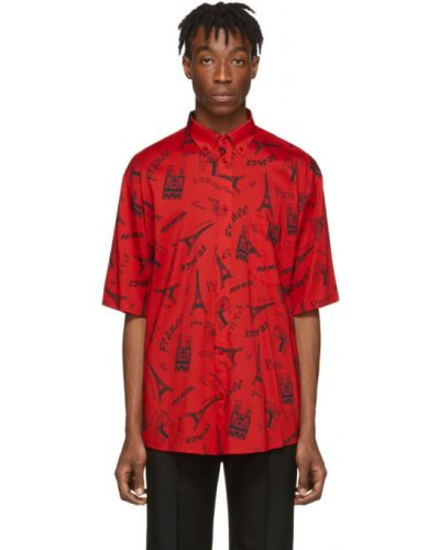Рубашка с короткими рукавами с карманами стрейч Balenciaga