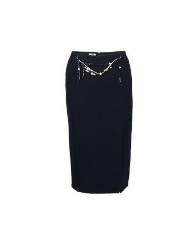 Шерстяная юбка миди - черная Moschino Cheapandchic