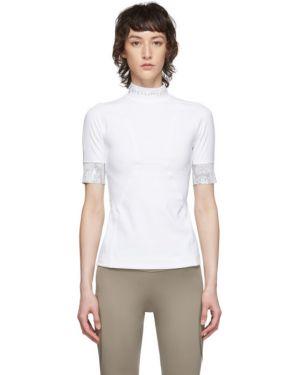 Топ с леопардовым принтом белый Adidas By Stella Mccartney