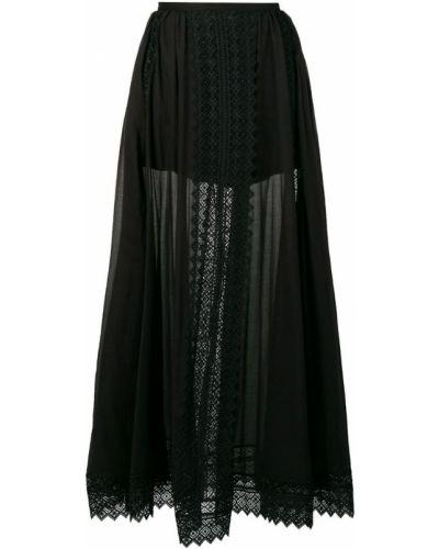 Черная ажурная юбка макси Charo Ruiz