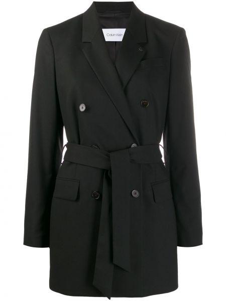 Пиджак черный в полоску Calvin Klein
