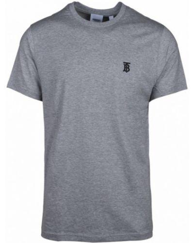 T-shirt z haftem krótki rękaw Burberry