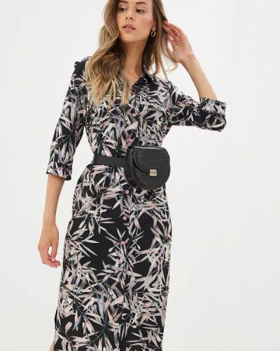 Платье платье-рубашка черное Doroteya