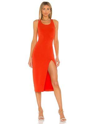 Pomarańczowa sukienka wieczorowa z siateczką z nylonu Nbd