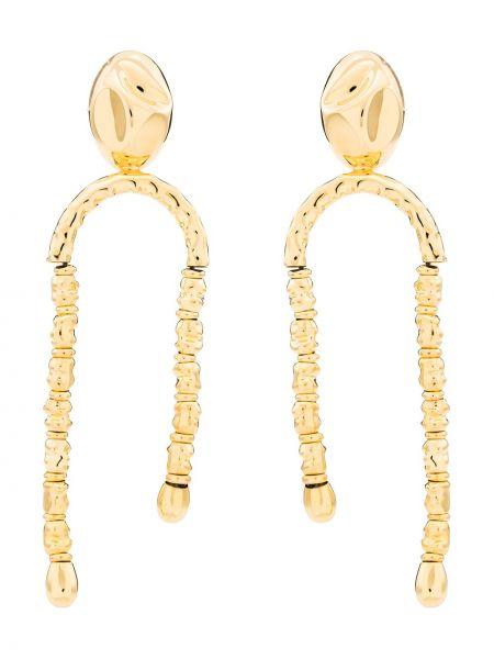 Złote kolczyki sztyfty pozłacane Monica Sordo