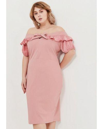 Розовое вечернее платье Lost Ink Plus