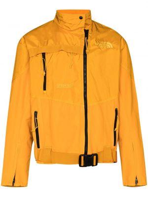 Czarna długa kurtka z haftem bawełniana The North Face Black Series