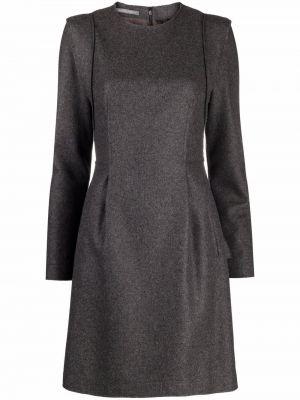 Шерстяное платье макси - серое Alberta Ferretti