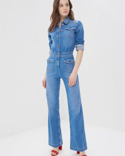 Голубой джинсовый комбинезон Tommy Hilfiger