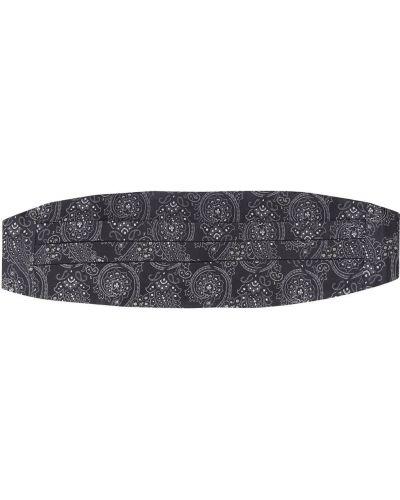 Черный шелковый камербанд эластичный Etro