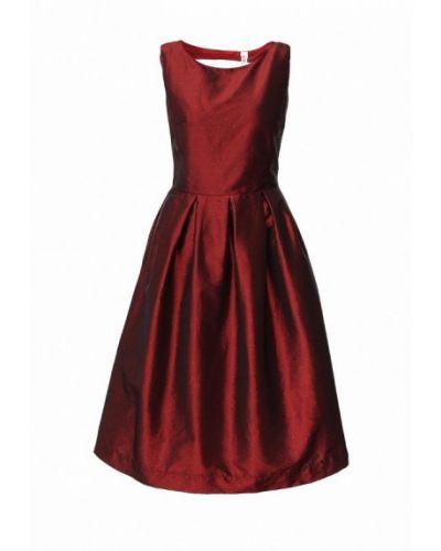 Платье миди бордовый красный Be In