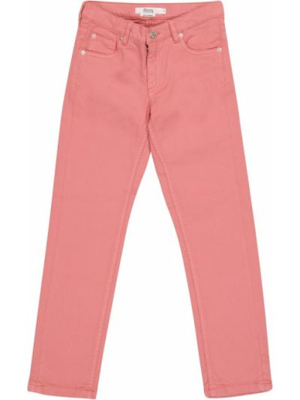 Розовые хлопковые джинсы стрейч Bonpoint
