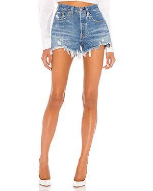 Рваные джинсовые шорты со стразами на пуговицах Levi's®