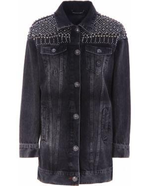 Джинсовая куртка длинная на пуговицах Philipp Plein