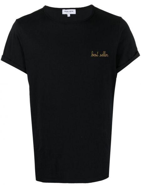 Czarny t-shirt bawełniany krótki rękaw Maison Labiche