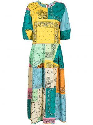 Хлопковое платье - зеленое Mira Mikati