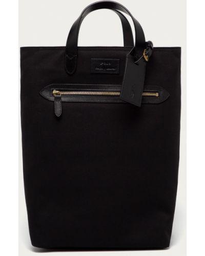 Czarny plecak skórzany Polo Ralph Lauren