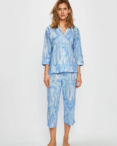 Piżama długo z wiskozy Lauren Ralph Lauren