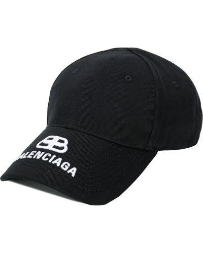 Trykotowy czapka czarny z logo Balenciaga