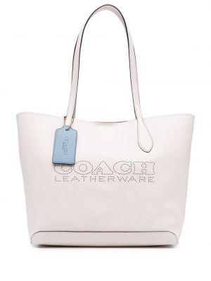 Белая сумка длинная Coach