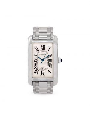 Белые часы прямоугольные Cartier